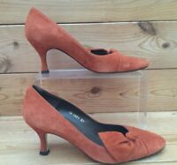 Ladies L K Bennett Orange Suede High Heel Shoes UK 4 EU 37 - Boxed