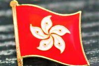 HONG KONG Metal Flag Lapel Pin Badge *NEW*