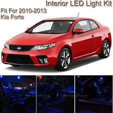 For Kia Forte 10-2013 Blue Interior LED Light Package Kit + White License Light