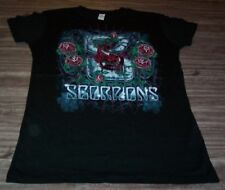 WOMEN'S TEEN VINTAGE STYLE SCORPIONS Roses T-shirt MEDIUM Metal Band NEW