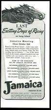 1941 Jamaica racetrack horse racing art vintage print ad