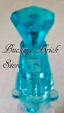 NEW Lego Trans Light BLUE CONTAINER BOTTLE Perfume Jar Minifig Accessory LOT/2