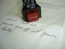 UND. LAB. PRESS ON- PRESS OFF ILL RED (POWER) SWITCH NNB