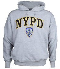 NYPD Embroidered Ash Hooded Sweatshirt Adult XX-Large