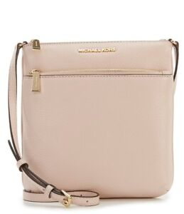 MICHAEL KORS Riley Small Pebbled-Leather Crossbody Soft Pink SEALED