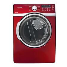 "Samsung Dv393Gtpara 27"" Red Front-Load Gas Dryer Nib #9690"