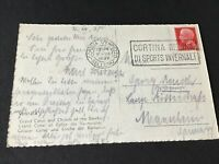Italy Venezia 1938 used stamps post card Ref R32013