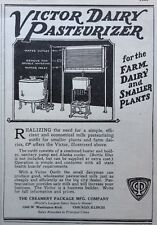 1927 AD(XA15)~THE CREAMERY PACKAGE MFG. CO. VICTOR DAIRY PASTEURIZER
