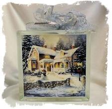 Christmas Welcome _ Nicky Boehme _ Glass Block Light