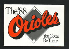 Baltimore Orioles--1988 Pocket Schedule--Giant