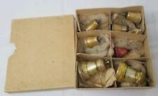 7 Antique German Glass Christmas Bells one w/ Glass Clapper