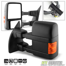 LEFT 2008-2016 Ford F250 F350 Super Duty Power Heated Signal Tow Driver Mirror
