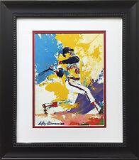 "LeRoy Neiman ""Reggie Jackson"" Newly Custom FRAMED ART PRINT Angels NY Yankees CA"