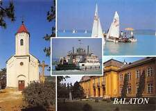Hungary Greetings from Lake Balaton multiviews Church Eglise Boats Bateaux
