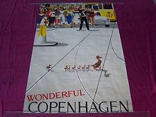 "ca 1950'S "" WONDERFUL COPENHAGEN"" CITY DUCKS Orig. Travel Poster-VIGGIO VAGNBY"