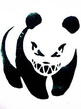 Banksy muzzled panda A2 Box Canvas Print