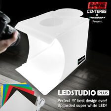 Pro COB LED Photo Studio Photography Tent Light Room Cube Mini Box + 6 Backdrops