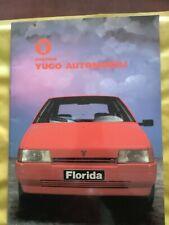 DEPLIANT BROCHURE ZASTAVA YUGO GAMMA COMPLETA 1989 YUGOSLAVO , INGLESE 38 PAGINE