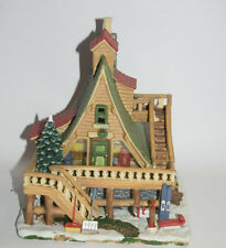 Lemax Vail Village Woodland Retreat Porcelain Christmas Village Lighted Retired