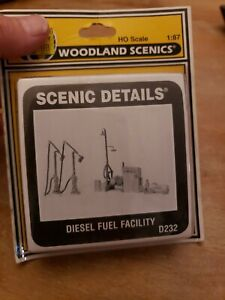"""HO Woodland Scenics--NEW """"Diesel Fueling Facility"""" D232 NEW"""