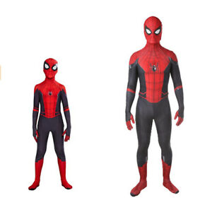 Spider-Man: Far From Home Jumpsuit Cosplay Costume Spandex Zentai Bodysuit Gifts