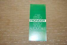 Pioneer Car Stereo TP-900 TP7000 KP500 TS691 kp8005 Original Catalogue Brochure