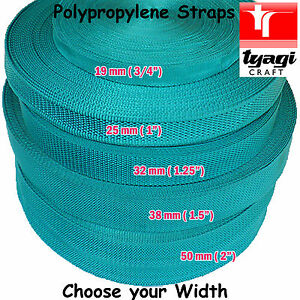 Persian GREEN Polypropylene Tape Strap Bag Handle Webbing Rucksack All Widths