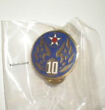 WWII USAAF 10TH AIR FORCE PIN - CURRENT PRODUCTION - GREAT FOR CAPS/JACKETS!