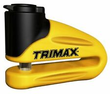 Trimax T665LY Rotor / Disc Lock 10 mm Pin in Yellow for Motorcycles