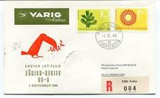 FFC 1966 Varig Airlines First Jet Flight DC 8 Zurich Recife Brasilien REGISTERED