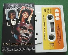 Johnny Mathis & Natalie Cole Unforgettable Musical Tribute Cassette Tape TESTED