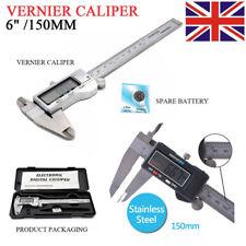 "LCD 6"" Digital Vernier Caliper 150mm Stainless Steel Micrometer Electronic Gauge"
