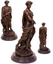 XL bronce personaje escultura romanos Cayo Julio César estatua sign. n. Coustou Vintage