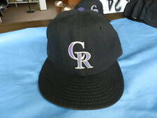Chris Jones 1994 Colorado Rockes game used hat with MLB 125 year pin