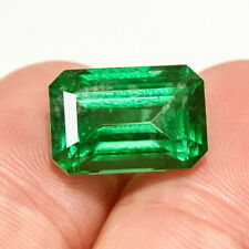 5.4Ct Colombian Emerald Octagon Collection Color Enhanced QMDa441