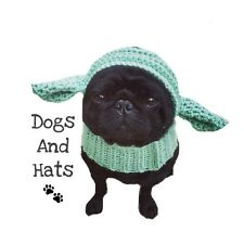 The Yoda dog hat. Star Wars hat, snood for your dog. Pug hat. Dog Hat. Costume