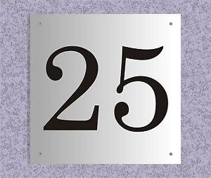 15x15cm Hausnummer Hausnummernschild Alu Aluminium Schild versch. Modelle Farben