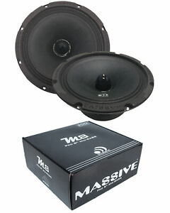 "Pair of Massive Audio M8 8"" 600Watts 8 Ohm Mid Bass Bullet Loud Speaker"