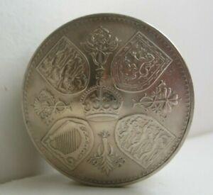 1953 Crown Coin Screw Lid Snuff Pot / Pill Box / Birth Year Keepsake Gift