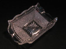 EAPG FOSTORIA HARTFORD Turned Up Dish Clear Glass EAPG #501 - Rare