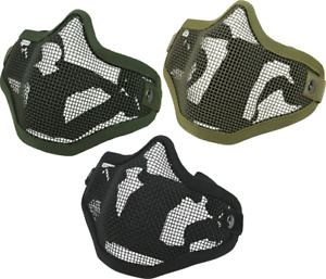 Tactical Steel Grid Adjustable Ventilated Face Mask For Airsoft Paintball - New