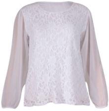 Camicia da donna in pizzo bianco