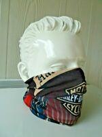 ✈ HARLEY SKULL Cap Tube Scarf Bandana Head Face Mask Neck Balaclava HOG