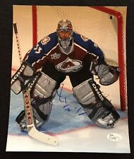 PATRICK ROY Signed COLORADO AVALANCHE 8x10 Photo - JSA COA GORGEOUS HOF!