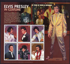 Elvis Presley In Costume Unmounted Mint Stamp Sheet from Gambia