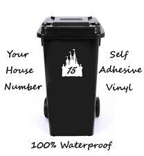 Cuento De Hadas Castillo número Personalizado Wheelie Bin/Caja De Reciclaje/número de casa adhesivo