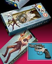 JOAL AGENT SPIELZEUG PISTOLE OVP BOX METAL CAP GUN 70er 12 SHOT WESTERN REVOLVER