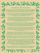 REDE OF THE HORNED ONE POSTER A4 SIZE Wicca Pagan Witch Goth BOOK OF SHADOWS