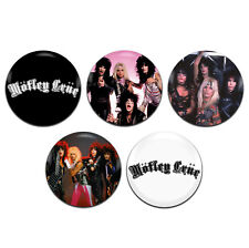 5x Motley Crue Band Glam Rock 25mm / 1 Inch D Pin Button Badges