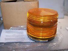New Federal Signal 141st 024a Beacon Strobe Warning Light Amber 24 Vdc